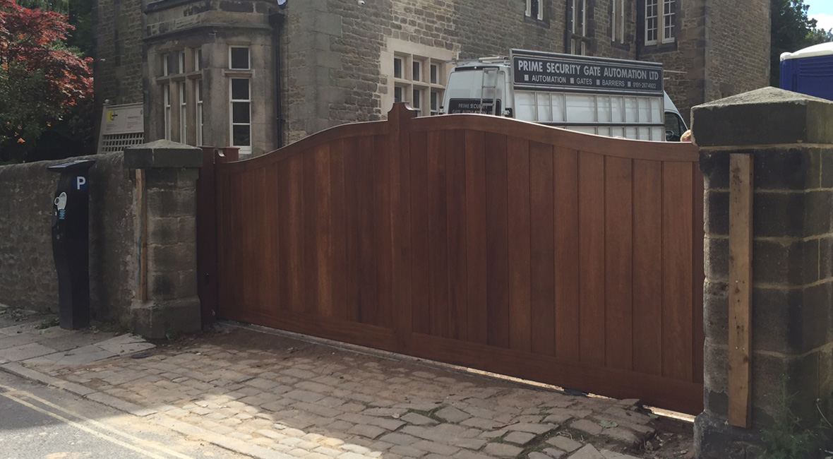 Wooden Sliding Gate 6