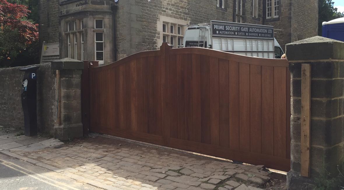 Wooden Sliding Gate 6
