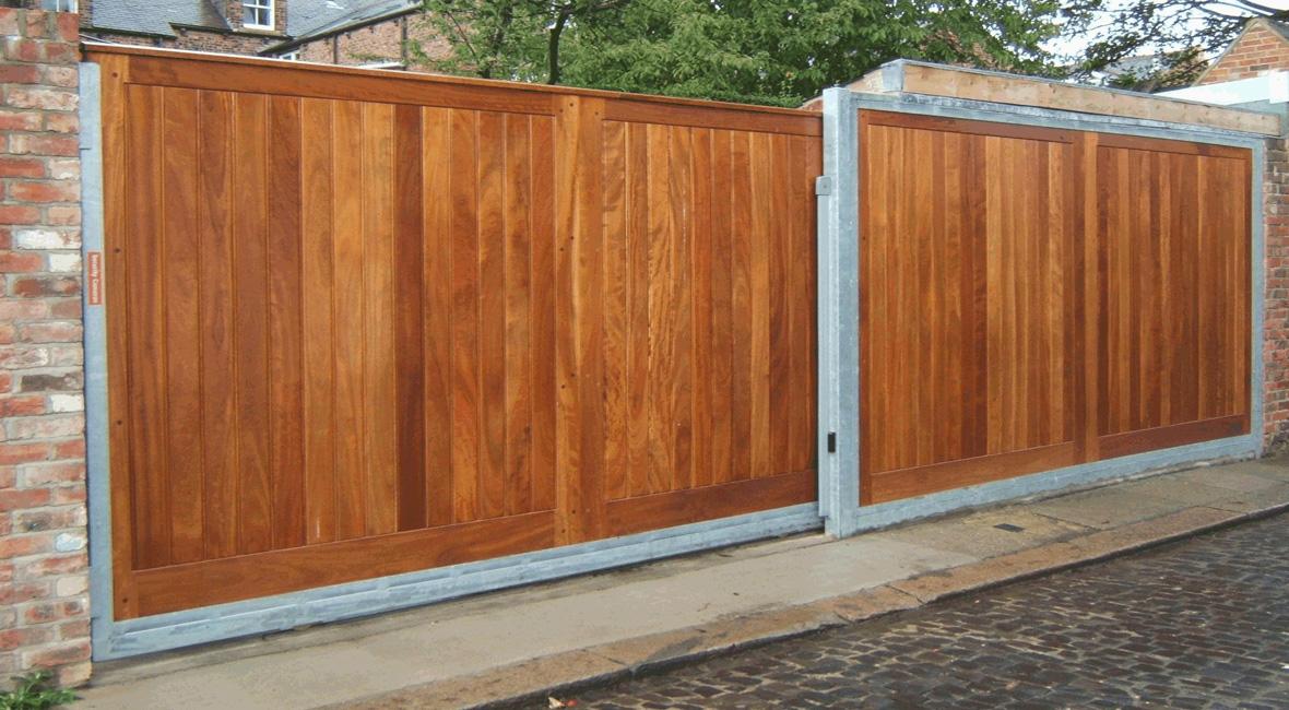 Wooden Sliding Gate 8
