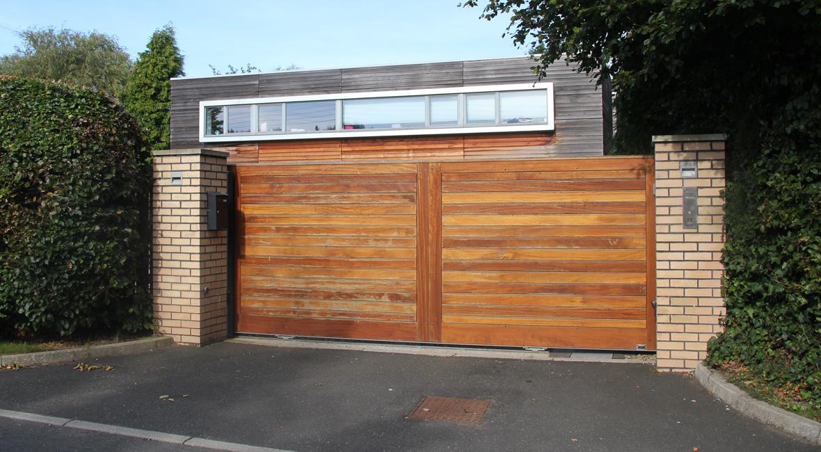 Wooden Sliding Gate 12