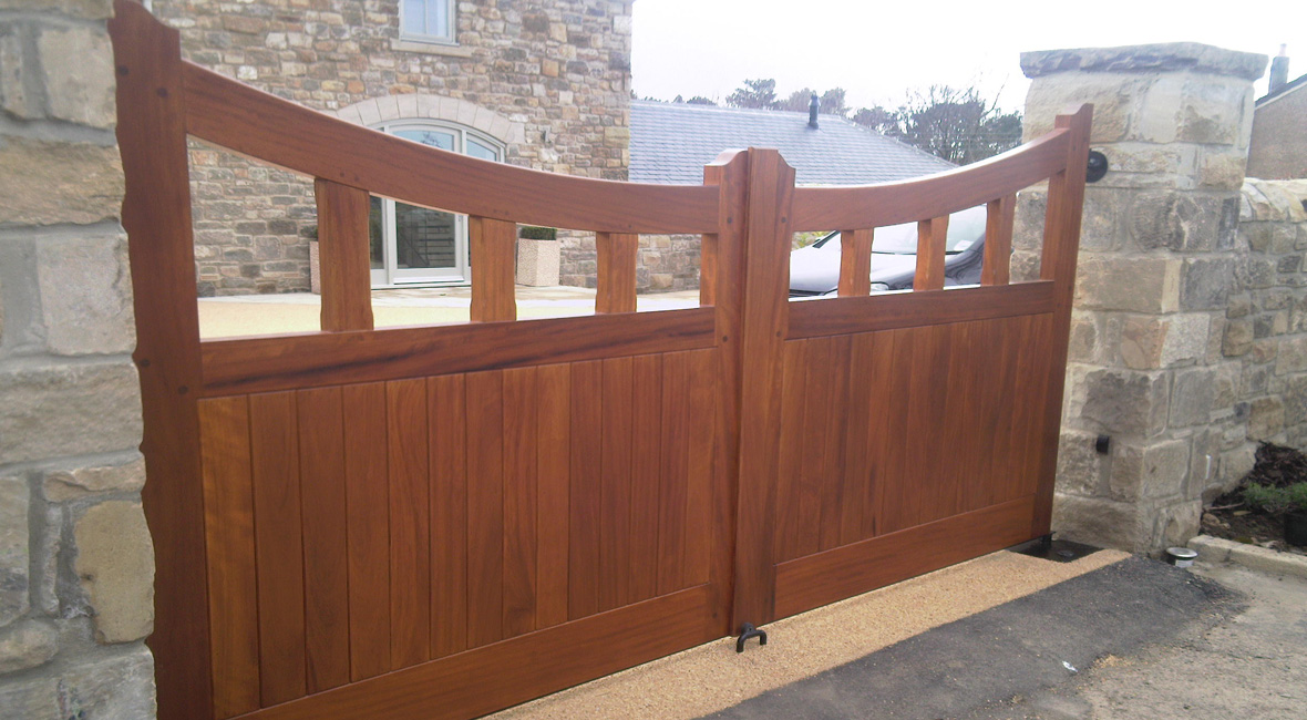 Wooden Swing Gate 8